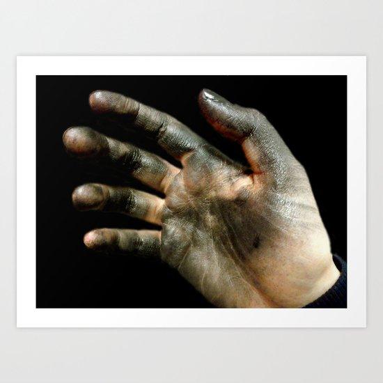 An Artist's Hands Art Print