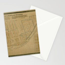 Map Of Allegheny 1863 Stationery Cards