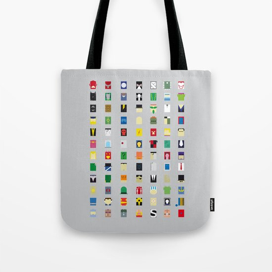 Minimalism Villains Tote Bag