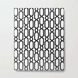 Black Geometric Beads Metal Print