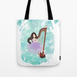 Harp girl 6: Music from the forest Tote Bag