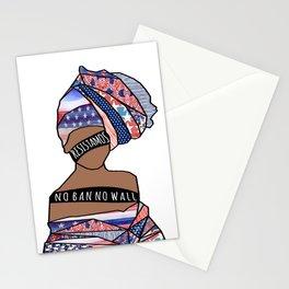 002- !RESISTAMOS! - No Ban No Wall Stationery Cards