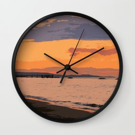 My dream by the Sea Wall Clock