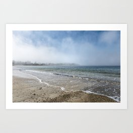 Fog rolling in on Niles Beach 5-9-18 Art Print