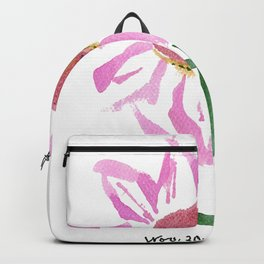 Pink Aster by artist John E. Backpack