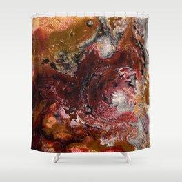 Liquid Fracture Shower Curtain