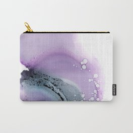 Abstract composition in purple and grey Carry-All Pouch