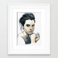 emma watson Framed Art Prints featuring Emma Watson by A.LynnArt