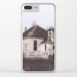 Country Schoolhouse Clear iPhone Case