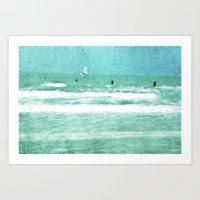 sailing Art Prints featuring sailing by Iris Lehnhardt