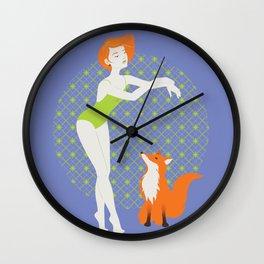 Dancer and fox Wall Clock