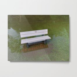 FLOODED BENCH Metal Print