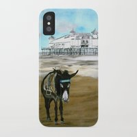 donkey iPhone & iPod Cases featuring Seaside Donkey by James Peart