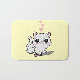 Kitty Hearts Kill - Cats Love Plotting Bath Mat