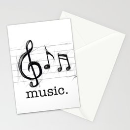 Music From The Heart Stationery Cards