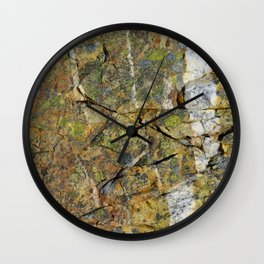 """Conwy Mountain (2) Mynydd y Dref (Welsh : """"Mountain of the Town"""") volcanic rock North Wales Wall Clock"""