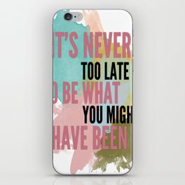 Typography iPhone Skin