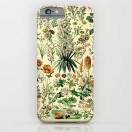 Adolphe Millot- Fleurs Vintage Illustration iPhone Case