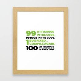 Little bugs in the code Framed Art Print
