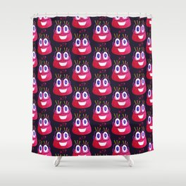 Cute Geek Mathematician Watercolor Candy Shower Curtain