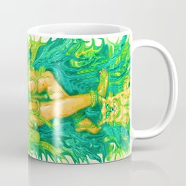 NUDE MIDDLE EASTERN GODDESS AND CAT BY LADYKASHMIR Coffee Mug
