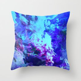 Misty Eyes of Tranquility Throw Pillow