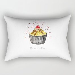 watercolor yellow and black muffin Rectangular Pillow