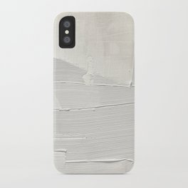 Relief [1]: an abstract, textured piece in white by Alyssa Hamilton Art iPhone Case