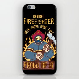 Retired Firefighter Proud Dad Grandfather Retirement Gift  Fire Department iPhone Skin