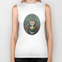 mona lisa Biker Tanks featuring Mona Lisa by Chris Talbot-Heindl