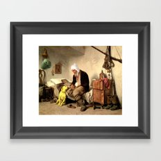 Adventure Time is over Jake. Framed Art Print