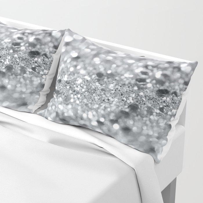 Silver Gray Lady Glitter #1 #shiny #decor #art #society6 Pillow Sham