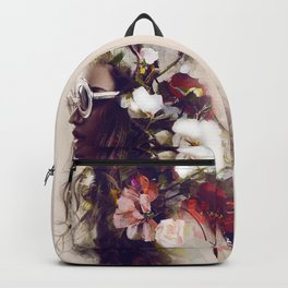 The girl with the flowers in her hair Backpack