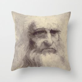 Leonardo da Vinci Throw Pillow
