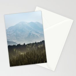 Epic Forest Mountain Adventure - Mount Rainier National Park Stationery Cards