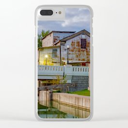 Rustic Water Mill Clear iPhone Case