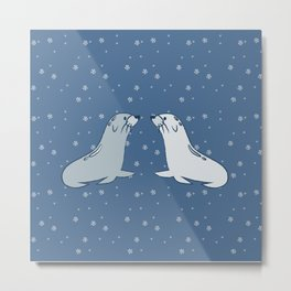 Winter Seals Metal Print