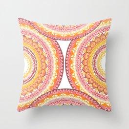 Summer Vibe Mandala Throw Pillow