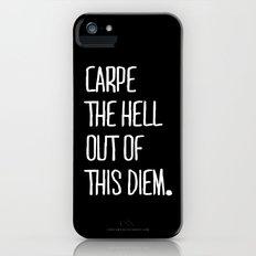 Carpe Diem ///www.pencilmeinstationery.com Slim Case iPhone (5, 5s)