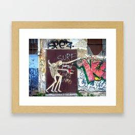 Tel Aviv Street Art / Know Hope / Urban Heart Framed Art Print