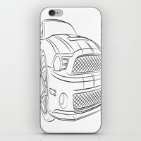mustang iPhone & iPod Skins featuring Mustang by cchelle135