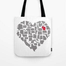 States of Love...Wisconsin Tote Bag