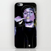 asap rocky iPhone & iPod Skins featuring ASAP  by Liamduignan