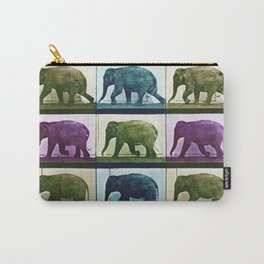 Time Lapse Motion Study Elephant Color Carry-All Pouch