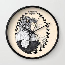 Crested Myna Wall Clock