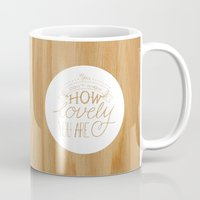 coldplay Mugs featuring Lovely Lyric by • CD •