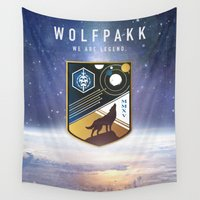 destiny Wall Tapestries featuring Destiny Wolfpakk by TheColorK