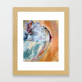 I Covered Her Naked Breast with My Shirt Framed Art Print
