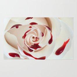 Bleeding Rose Macro Rug