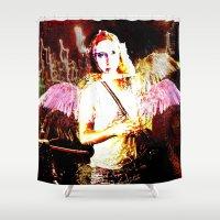 angels Shower Curtains featuring Angels by Maya Kechevski